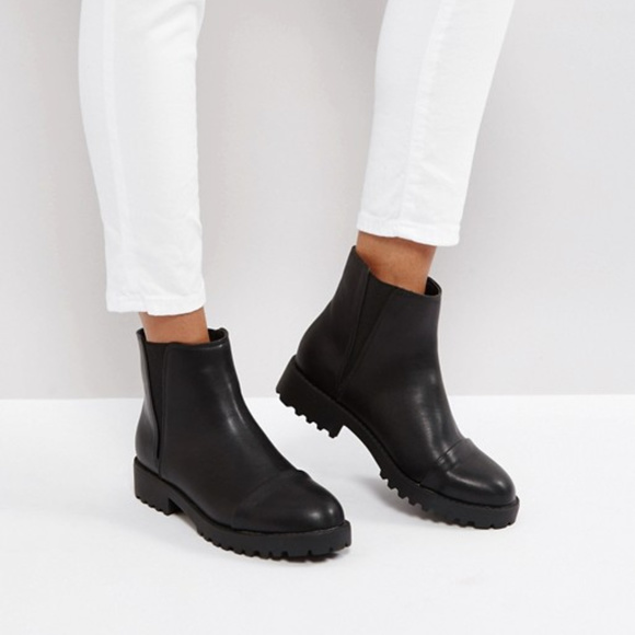 69f0e26d862 ASOS ADMIRER Flat Chelsea Ankle Boots Boutique